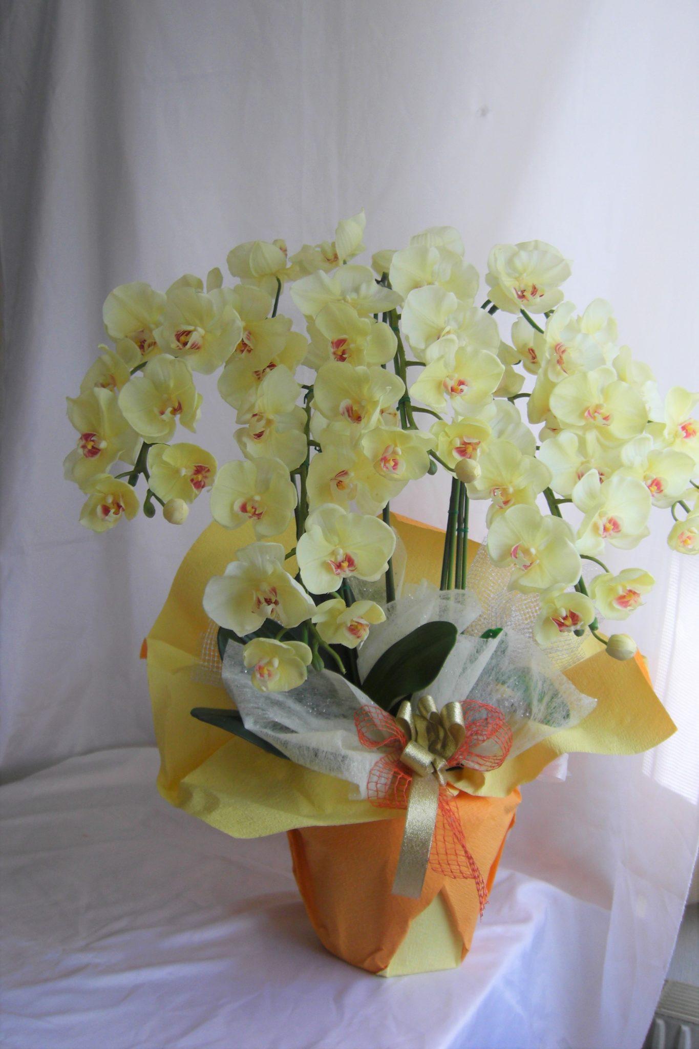 黄色の胡蝶蘭 アーティフィシャルフラワー